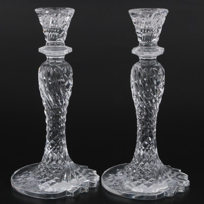 """Pair of Waterford Crystal """"Seahorse"""" Candlesticks, 2002-2017"""