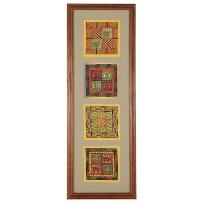 African Kudhinda Relief Prints Framed Wall Hanging