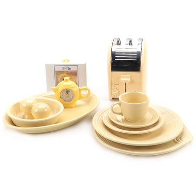 "Homer Laughlin ""Fiesta Yellow"" Ceramic Dinnerware, Table Accessories, and More"