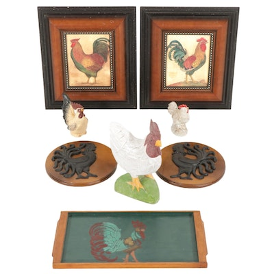 Rooster Themed Wall Hangings and Table Decor