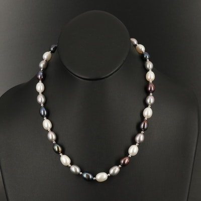 Sterling Pearl Necklace