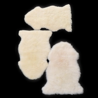 Woolmark Interiors and Other Sheepskin Throw Rugs