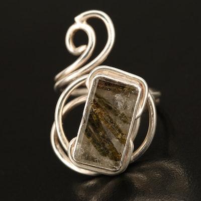 Rachel Savané Sterling Tourmalinated Quartz Ring