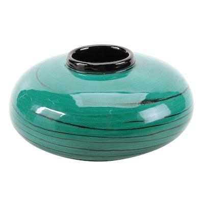Green Glazed Ceramic Art Pottery Vase