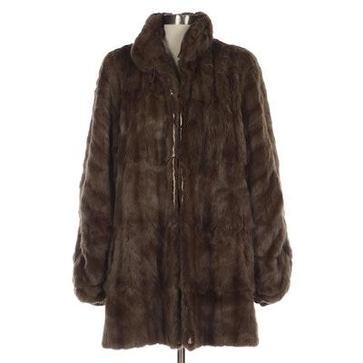 Squirrel Fur Dolman Sleeve Stroller Coat
