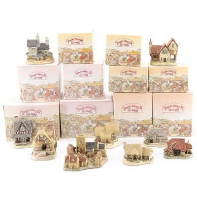 David Winter Cottages Resin Houses
