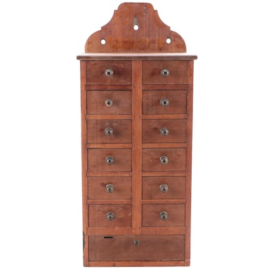 Wall Hanging Wooden Spice Cabinet