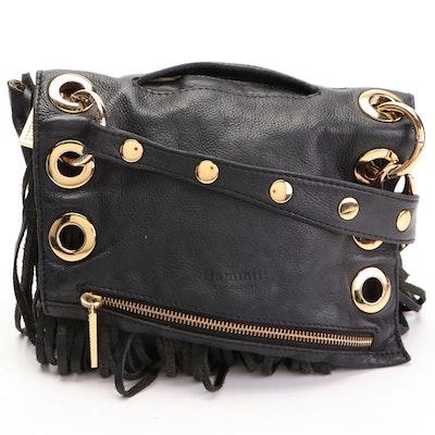 Hammitt Los Angeles Roxbury Fringe Crossbody Bag in Black Leather