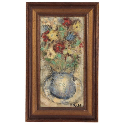 Francisco Buldain Aldave Floral Still Life Oil Painting
