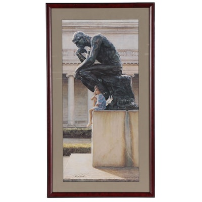 """Steve Hanks Offset Lithograph """"The Thinkers"""""""