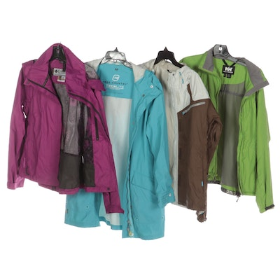 Helly Hansen, Columbia, and Free Country Windbreakers and Rain Jackets