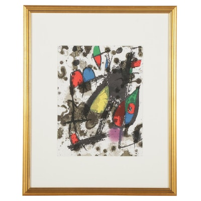 """Joan Miró Color Lithograph Cover for """"Lithographs II"""""""
