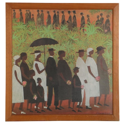 """Offset Lithograph After Ellis Wilson """"Funeral Procession"""""""