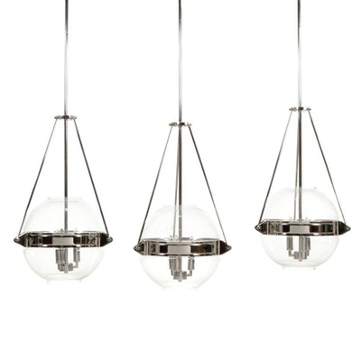 Intertek Pendant Lights with Clear Glass Globe Shades