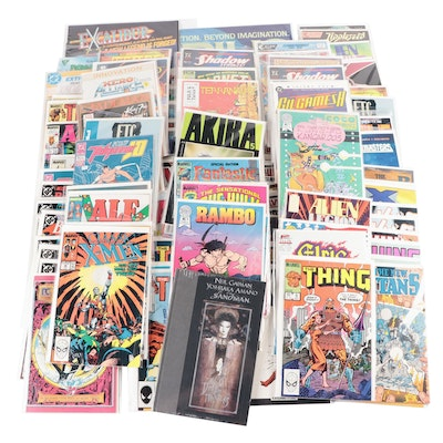 """Modern Age Comics Including """"The Thing"""" and """"Batman,"""" 1980s"""