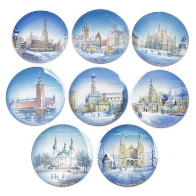 Rosenthal Weihnachten Christmas Porcelain Collector Plates, 1980s