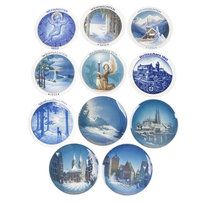 Rosenthal Weihnachten Christmas Porcelain Plates, Early to Mid 20th Century