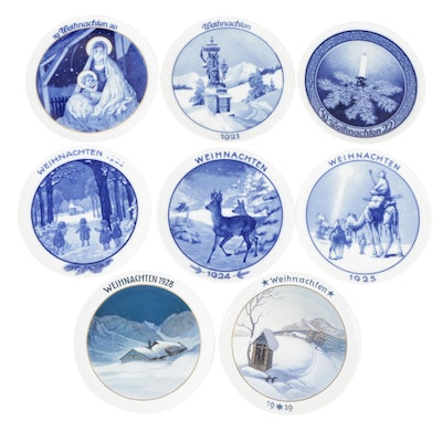 Rosenthal Weihnachten Christmas Porcelain Collector Plates, Early 20th Century