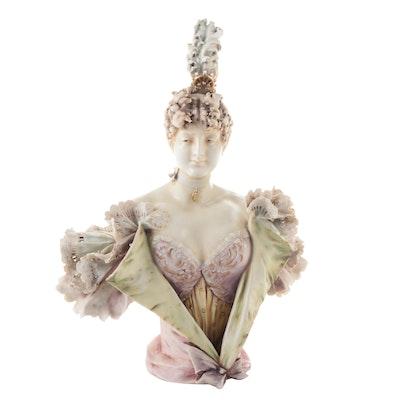 Reissner, Stellmacher & Kessel Bohemian Porcelain Female Bust