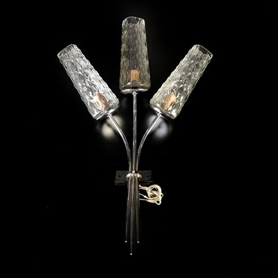 Three-Light Glass Wall Sconce