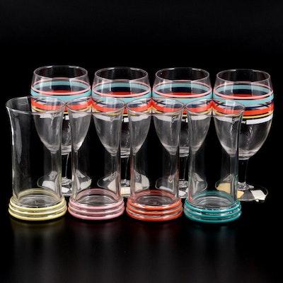 Homer Laughlin Fiestaware Coordinates Iced Tea Glasses and Tall Tumblers