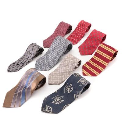 Men's Ties in Printed Silk by Enrico Coveri, Brooks Brothers, Perry Ellis, Other