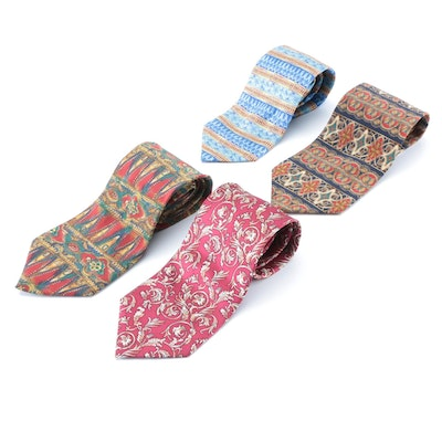 The Metropolitan Museum of Art and Other Art Museums Patterned Silk Neckties