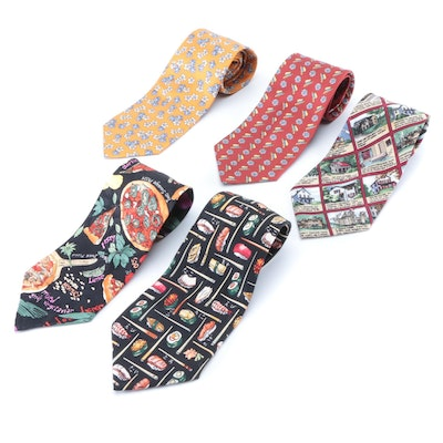 Nicole Miller, Harrods and Façonnable Patterned Silk Neckties