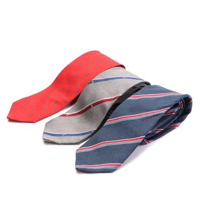 Men's Neckties in Printed Silk by Fendi, Valentino, and Giorgio Armani