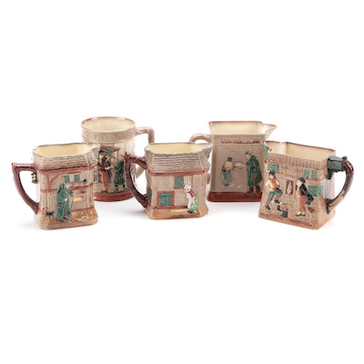 Royal Doulton Dickensware Pitchers and Tankard, Mid-20th Century