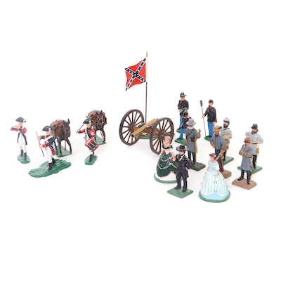 Cast Metal Revolutionary War and Civil War Toy Soldiers, 1990s