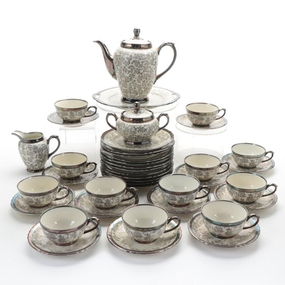 "Keram Silber ""Dekor"" Porcelain Dinnerware, Mid-20th Century"