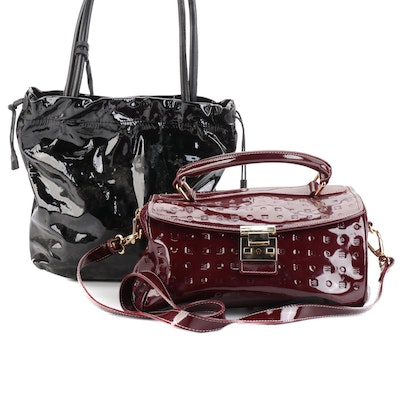 Arcadia and Furla Patent Leather Bags