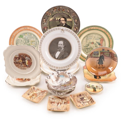 """Royal Doulton """"Dickensware"""" with Adam """"Dickens"""" and Other Tableware"""