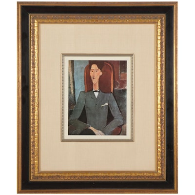 """Offset Lithograph After Amedeo Modigliani """"Portrait of Jean Cocteau"""""""