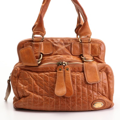 Chloé Bay Satchel in Brown Leather