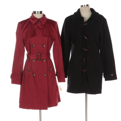 Talbots and Willi Smith Stretch Trench and Wool Overcoats