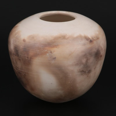Signed Pit-Fired and Burnished Studio Art Pottery Vase