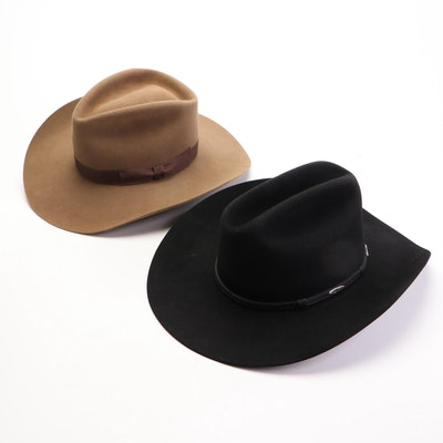 Stetson Beaver Fur Felt and Kevin O'Farrell Wool Felt Western Hats with Box