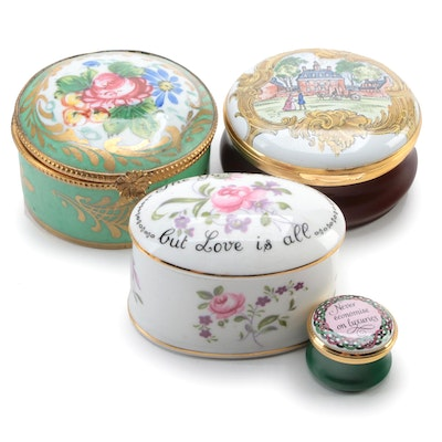 Limoges, Halcyon Days and Other Porcelain and Enamel Boxes