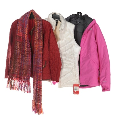 The North Face and Barbour Jackets and Vest with Magotuscia Scarf