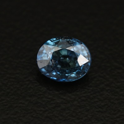 Loose 1.05 CT Oval Faceted Sapphire