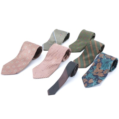Men's Neckties in Printed Silk by Missoni, Joseph Abboud, Ted Lapidus, and Boss