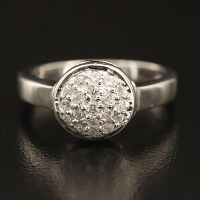 Sterling Silver Zircon Ring