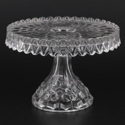 "Fostoria ""American Clear"" Pressed Glass Cake Stand, 1915-1982"