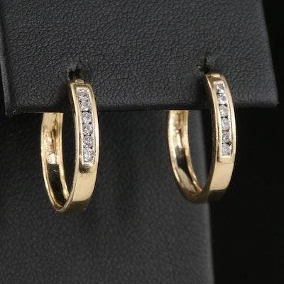 14K 0.24 CTW Diamond Hoop Earrings