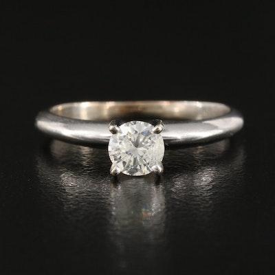 14K 0.33 CT Diamond Solitaire Ring