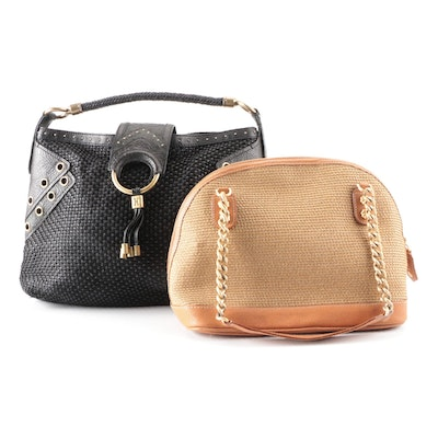 Eric Javits and Cole Haan Shoulder Bags in Woven Fabric and Leather
