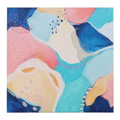 """Sanna Abstract Acrylic Painting """"Kaleidoscope 2,"""" 2020"""