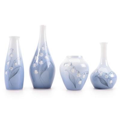 Bing & Grøndahl Danish Porcelain Bud Vases, Late 20th Century